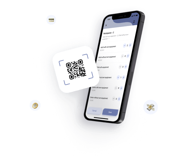 QR scanners for booking